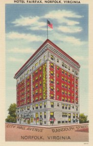 NORFOLK , Virginia , 1930-40s ; Hotel Fairfax