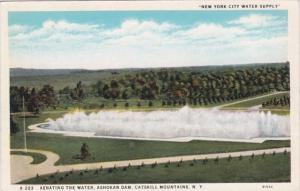 New York Catskill Mountains Aerating The Water Ashokan Dam New York City Wate...