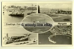 tp8157 - Kent - Multiview x 5 of Various Harbour Scenes, in Margate - Postcard