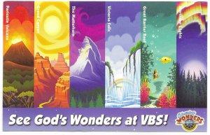 US  Unused See God's Wonders at VBS!  Six wonders in colorful scenes.
