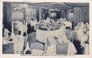 Swedish Rathskeller Restaurant, New York City, New York, 1910-1920s