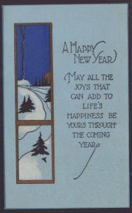 A Happy New Year,Scene Postcard