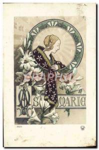 Old Postcard Fancy Marie Surname