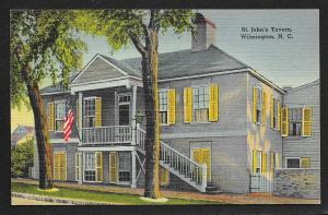 Street View St Johns Tavern Wilmington North Carolina Unused c1940s