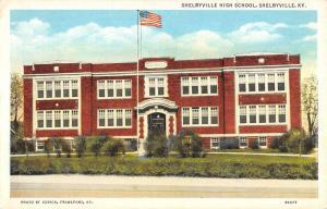 Shelbyville Kentucky High School Exterior Street View Antique Postcard K12264