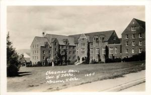 Vintage 1930s RPPC Postcard Chrisman Hall University of Idaho Moscow ID 164-1