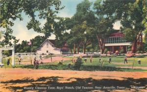 1940s Weekly Cleanup Boys Ranch Amarillo Texas Colorpicture linen 1074