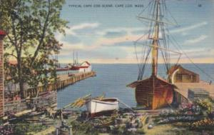 Massachusetts Cape Cod Typical Shoreline Scene