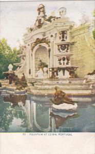 Portugal Fountain At Leiria