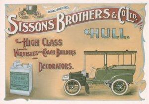 Sissons Brothers Hull Builders Decorators Advertising Postcard