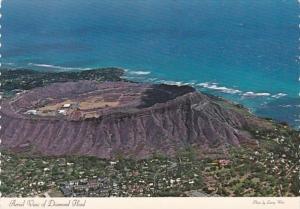 Hawaii Honolulu Aerial View Diamond Head Crater