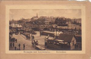 Netherlands Rotterdam Boompjes met Leuvenhaven