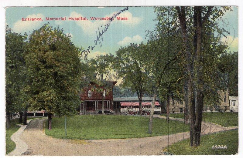 Worcester, Mass, Entrance, Memorial Hospital