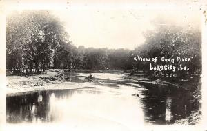 Lake City Iowa~View on Coon River~North Raccoon~Sand Bars~c1915 RPPC
