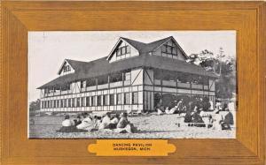 MUSKEGON MICHIGAN~DANCING PAVILION-LUXATONE PUBL POSTCARD 1910s