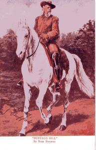 Buffalo Bill Cody on horseback