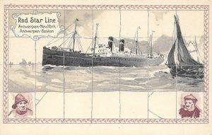LP37   Ship Red Star Line H. Cassiers Vintage Postcard