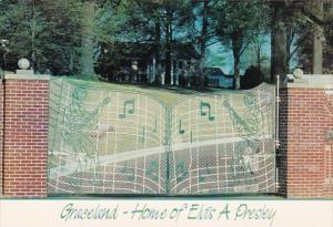 Elvis Presley Graceland Mansion Entrance Gates Memphis Tennessee