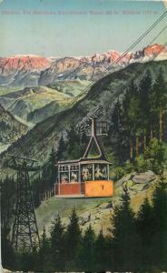 Italy Bolzano electric telpher cableway Schwebebahn Kohlern peak Bozen