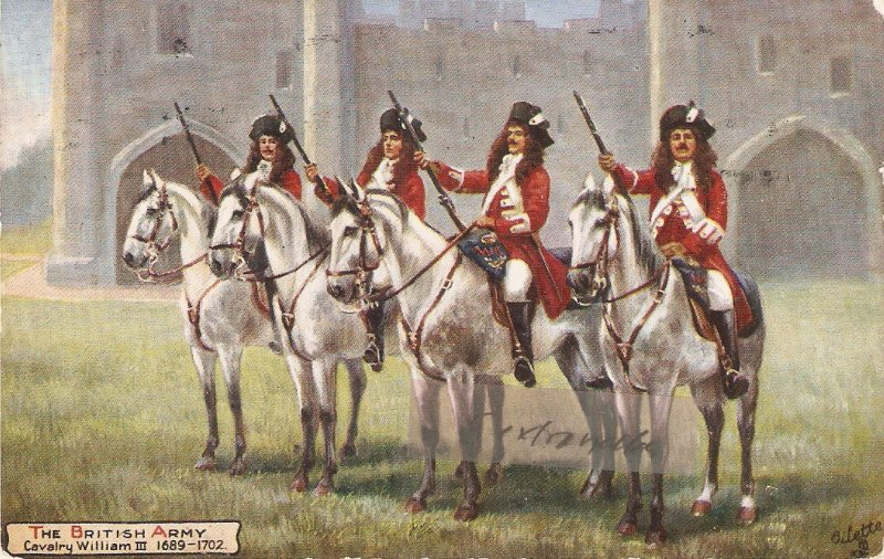 Harry Payne The British Army . Cavalry Willian III TuckOikette PC # 9478