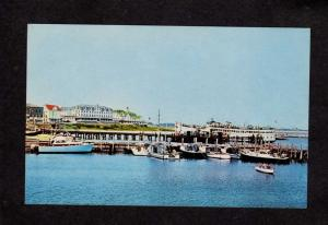 RI  Old Harbor Block Island Rhode Island Postcard Steamship Steamer Quonset