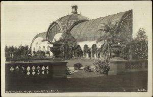 San Diego CA World's Fair Botanical Gardens c1915 Reall Photo Postcard