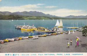 Boats at pier , Fuji National Park , Japan , 40-50s