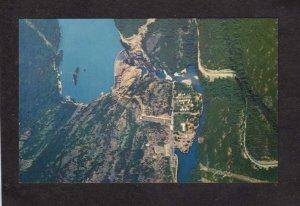 WA Seattle Diablo Power Plant Dam Aerial View Washington State Postcard