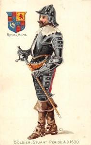 Soldier, Stuart Period A.D. 1630 Royal Arms, uniform, dress