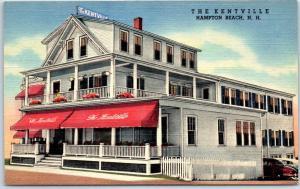 Hampton Beach, New Hampshire Postcard THE KENTVILLE Hotel Curteich Linen c1940s