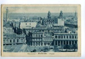133045 URUGUAY MONTOVIDEO Vista parcial Vintage postcard