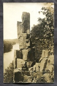 dc311 - TAYLORS FALLS Minn 1910s The Devil's Chair. Real Photo Postcard