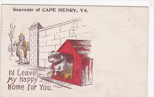 Dog, I'd Leave My Happy Home For You, Souvenir Of Cape Henry, Virginia, PU-...