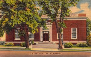 Historic Rogers, Arkansas, U.S. Post Office, Linen Era, Old Postcard