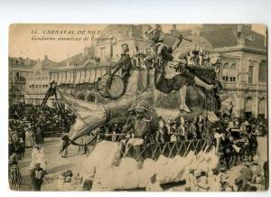 246834 FRANCE Carnaval de Nice Gendarme in love w/ aviation PC
