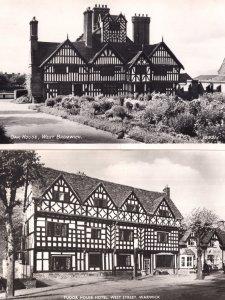 Tudor House Hotel Warwick Restoration Rare 2x Postcard