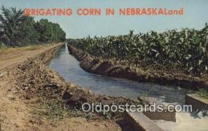 Irrigating Corn Farming Postcard Post Card Nebraska, NE, USA Irrigating Corn