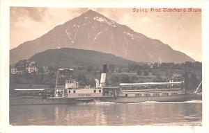 Switzerland Old Vintage Antique Post Card Spiez Hotel Belvedere Unused