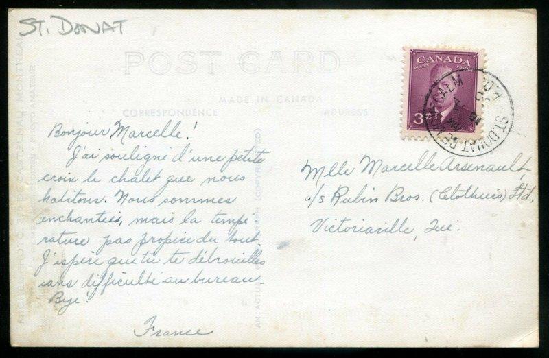 3447 - ST. DONAT Que 1950 Manoir des Laurentides. Real Photo Postcard by Michel