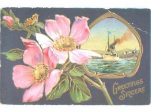 Divided-Back BEAUTIFUL FLOWERS SCENE Great Postcard AA2280
