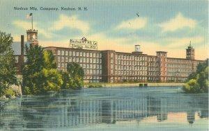 Nashua, New Hampshire NH Nashua Manufacturing Co Linen Postcard