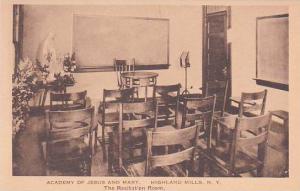 New York Highland Mills Academy Of Jesus And Mary The Recitation Room Albertype