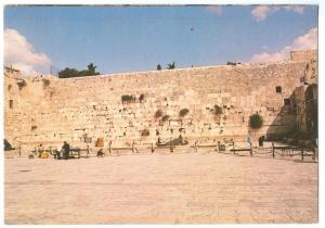 Jerusalem, Wailing Wall, unused Postcard