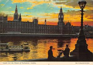 BR89429 sunset over the houses of parliament london ship bateaux  uk