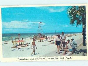 Pre-1980 BEACH SCENE Panama City Beach Florida FL AE9254