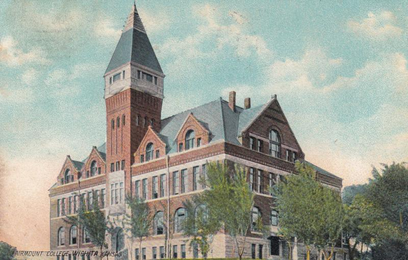 WICHITA , Kansas , PU-1908 ; Fairmont College