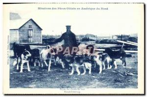 Postcard Old Missions Des Peres Oblates In America North Meals of the Dogs Of...