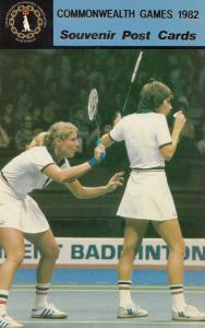 Nora Perry Jane Webster Tennis 1982 Commonwealth Games Postcard