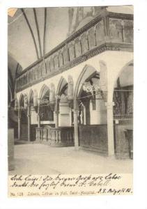 Interior, Lubeck, Lettner im Heil, Geist-Hospital, Schleswig-Holstein, German...