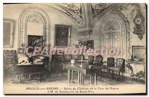 Postcard Old Saulce Sur Rhone Salon Du Chateau De La Tour De Veyre